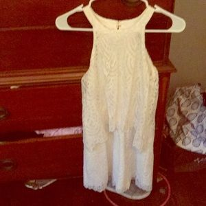 Lilly Pulitzer white eyelet lace romper